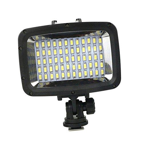 Sharplace Unterwasser LED Videoleuchte Blitzlicht Wasserdicht Tauchen Video-Foto-Lampe Unterwasserlicht für Handy, GoPro, SJCAM, Sony etc.