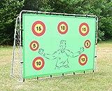 But de football avec cibles, 2,1 x 1,5 mètres, challenge de points, rebondeur de but 3-en-1, amusement et pratique du tir pour les enfants