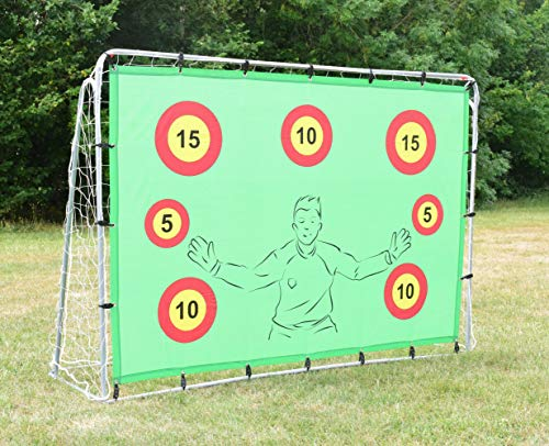 Portería de fútbol con objetivos, 2.1 x 1.5 metros, desafío de puntos objetivo, reboteador, práctica de tiro y diversión para niños