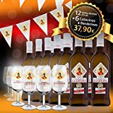 Manzanilla La Gitana - Pack 12 Botellas 37,5 Cl. + 6 Catavinos + Banderines