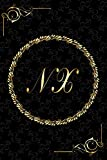 NX: Golden Monogrammed Letters, Executive Personalized Journal With Two Letters Initials, Designer P...
