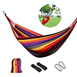 logei®Hamaca para Camping Excursión al Aire Libre Jardín Capacidad de Carga 200Kg, 200 * 150cm, Multicolor