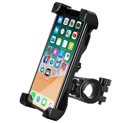 Jancyu Supporto Telefono Bici,Rotabile 360°Universale schiocco Porta Cellulare Bici Moto per iPhone 11 PRO/X/XR,Samsung Galaxy A51/A71, Xiaomi Redmi Note 9s/9 PRO, Huawei P40 e così Via (1, 1)