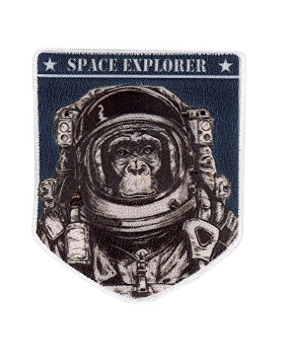 Titan One Europe - Space Explorer Chimp Astronaut NASA Astronaut Schimpanse Weltraumforscher NASA Aufnäher Aufbügler