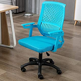Zxx Swivel Chair - Simple Breathable Lifting Comfortable Home Office Conference Rotating Computer Chair, There are 7 Colors Optional Gaming Chair (Color : Light Blue)