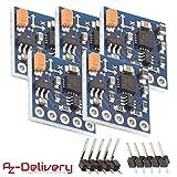 AZDelivery 5 x GY-271 brújula sensor magnético de brujula modulo para Arduino y Raspberry Pi con eBook incluido
