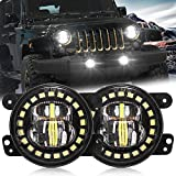 4 Inch Led Fog Light with White Halo Ring/Fog...