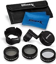 Ultimaxx 7 Piece Drone Camera Filter Bundle Kit for DJI Phantom 4 Pro, Phantom 4 Pro+ and Phantom 4 Advance Quadcopter w/Filters, Lens Hood, Gimbal Stabilizer, Carry Case