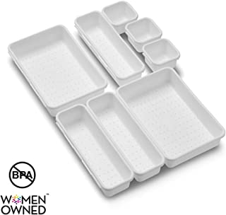 madesmart Value 8-Piece Interlocking Bin Pack | Value Collection | Customizable Multi-Purpose Storage | Durable | Easy to Clean | BPA-Free