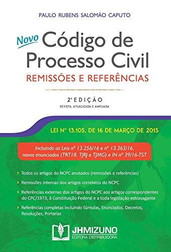 Novo Código de Processo Civil: Remissões e Referências