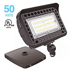 ✅ AMERICAN STANDARD FLOOD LIGHT - Hyperlite Guarder Series LED flood light outdoor is specifically designed for American consumers, which is better than European standard flood light. Waterproof, high brightness, multiple mounting options, UL certifi...
