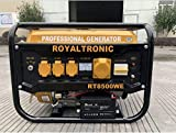 Elektro Start Benzin Stromgenerator Stromerzeuger Notstromaggregate Generator 6.5Hp 4Takt Edelstahl...