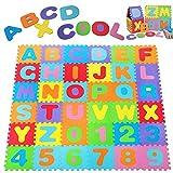 Deuba Alfombra puzzle para niños bebe 86 piezas 26 letras y...