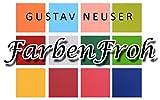50x Tischkarten in Nacht-Blau I Größe: 100 x 90 mm (gefaltet 100 x 45 mm) I 240 g/m² – Sehr schwere und stabile Qualität I Aus der Serie FarbenFroh von NEUSER! - 4