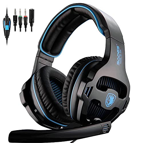 PS4 Gaming Headset for PC, SADES Xbox One Headset Gaming Headphones with...