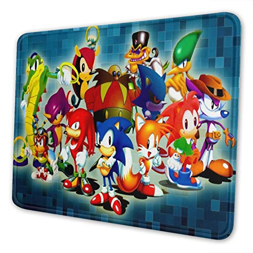 Soni_c Hedgehog Mouse Pad Non-Slip Waterproof Foldable Rubber Base Gaming Mouse Pad for Desktop Computers Laptop Office Home & More Mouse Pads 10x12 in