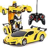 Mnsun Ferngesteuertes Auto, 2 in 1 Transformator Roboter Auto, One-Touch-Transforming Ferngesteuert Transformers Auto & Robot Verwandelbar, Auto Spielzeug Lernspielzeugset für Kinder