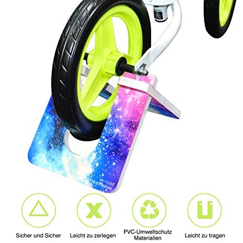 Mewtwo Kinder Laufrad Fahrradständer, Zusammenklappbarer Fahrradständer Balance Fahrradständer für 10