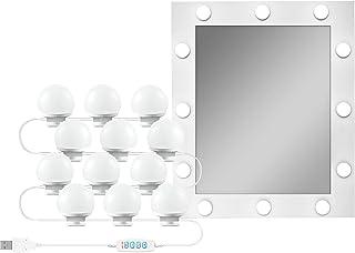 Lampada da specchio a LED dimmerabile con luce a specchio per trucco - Hollywood Style lampade 3 luci dimmerabili per toel...