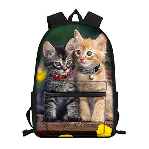 stampa Cuccioli di animali, simpatici gattini borsa da scuola,zaini di scuola materna, zaini per bambini, zaini laptop per giovani