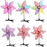XiZiMi Wind Spinner Zufällige Farbe Baby Bunte Regenbogen Haarnadel 10 stücke Nette 3D Windmühle Haarspange für Kinder für Geburtstagsfeier Geschenk Haarspangen Windmill