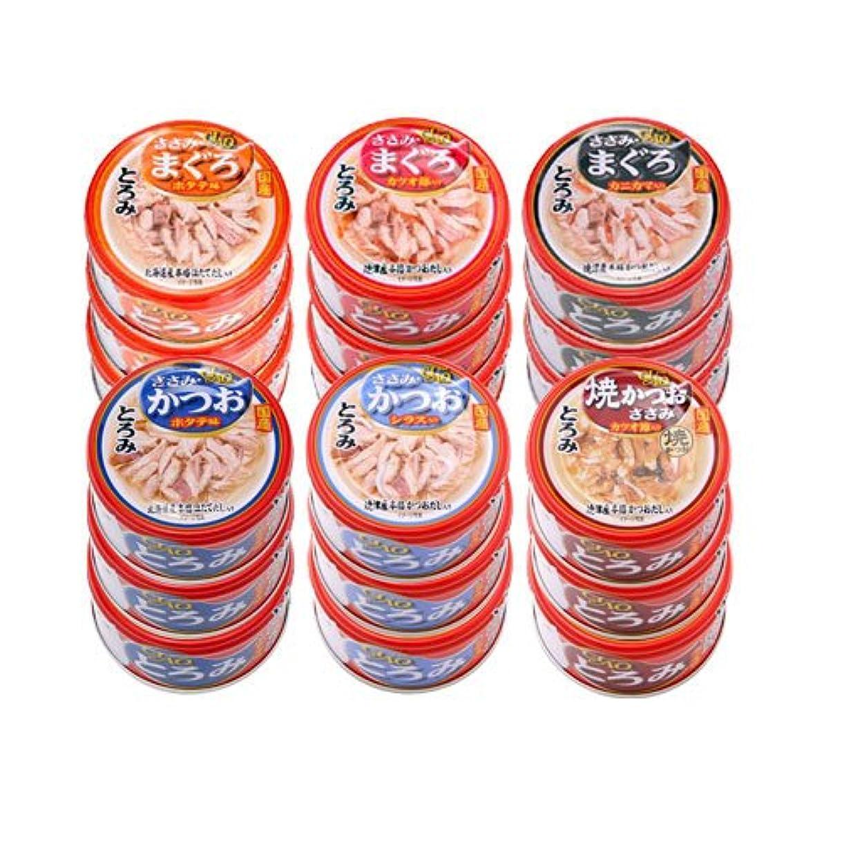 アンテナ禁輸リボンアソート いなば CIAO(チャオ) とろみ 80g 6種18缶 キャットフード CIAO チャオ