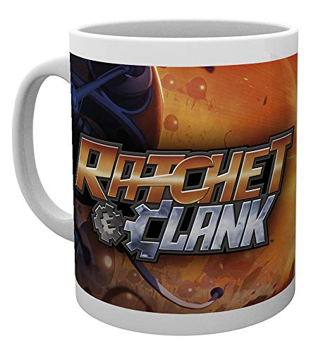 Ratchet and Clank Tasse All For One weiß, bedruckt, aus Keramik, Fassungsvermögen ca. 320 ml.