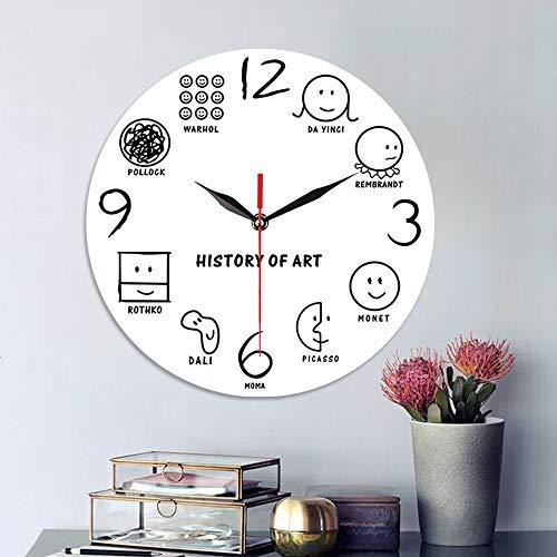 LG Snow Acryl Dekorative Uhr Schlafzimmer Wohnzimmer Mute Kreative Minimalistischen Ausdruck Digital Personalisierte Wanduhr (30 * 30 cm) (Color : White)