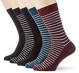 Jack & Jones JACTHIN Strip Jack Socks 5 Pack Calcetines, negro, Talla única para Hombre