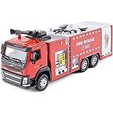 YN ボーイズギフトを送るために車モデルのシミュレーションのおもちゃエンジニアリングカーモデルキッズ玩具ビッグトラック消防車の高圧力水ガン消防車