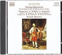 Haydn: String Quartets 61, 62, 63 (Emperor, Fifths, Sunrise) (1991-03-22)