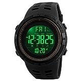 SKMEI Men's Digital Sports Watch Waterproof Military Stopwatch Countdown Auto Date Alarm