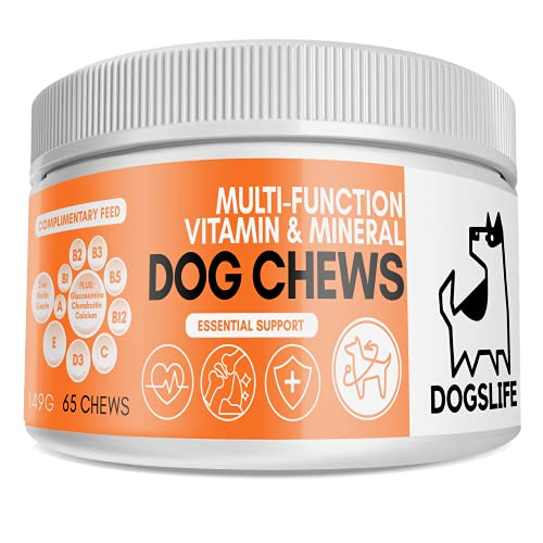 Multivitamin Chews For Dogs | Multivitamin Dog Supplement To Optimise Health & Wellbeing | Natural All-in-1 Dog Health Chews | UK Veterinarian Formulated