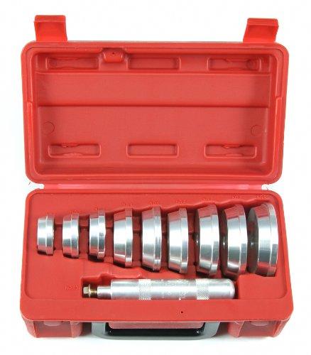 Druckstück Satz Presswerkzeug Einsätze zum Wellen oder Lagern auspressen und einpressen 10-tlg. (Fahrwerk-Instandsetzung Werkzeug)