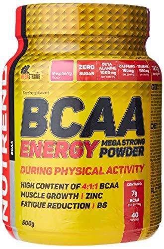 NUTREND BCAA Energy Mega Strong Powder, Raspberry, P34040