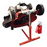 COPACHI Push Lawn Mower Lift, Garden High Duty Holder for Push Mower Lawn with Hight Control Key and Lawn Mower Clearance-22''Hight/110lb Weight Capacity