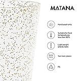 matana 50 Champagnerflöten, Einwegbecher, Sektkelche Plastik 150 ml - Glitter Gold Sektgläser Plastik - Ideal für Hochzeiten, Partys, Cocktails & Premium-Anlässe - 3