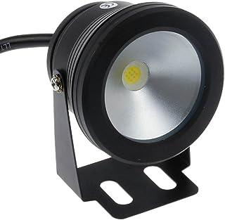 LemonBest®. 10W 12V Negro IP68 impermeable llevo la luz subacuatica Flood Para Paisaje fuente del estanque de la piscina de iluminacion- Blanco frio
