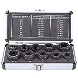 Impact Nut & Bolt ExtractorTool Set, 10 Pieces Bolt & Nut Removal...