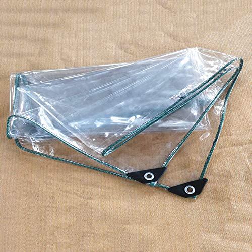Transparente Lona de Cubierta Transparente Impermeable, Grosor 0,45 mm, 100% Impermeable, a Prueba de Polvo, a Prueba de Lluvia Lámina de Lona para Suelo Cubre láminas de Suelo Aislamiento antienvej