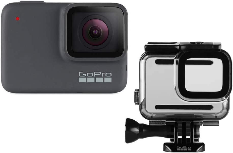 GoPro HERO7 Silver + Protective Housing - Waterproof Digital Action Camera with Touch Screen 4K HD Video 10MP Photos Stabilization : Electronics