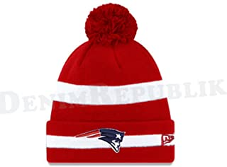 half off 9bf77 6bccc New-Era New England Patriots Men s NFL Knit Cap Beanie Red
