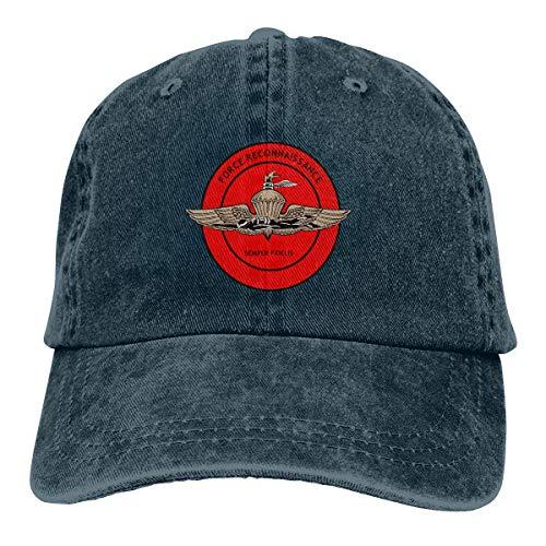 shenguang United States Marine Corps Force Recon Adjustable Vintage Washed Denim Cotton Dad Hat Baseball Caps Outdoor Sun Hat