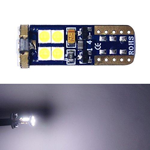 Feeldo Blanc de voiture T10 194 W5 W 3030 clignotant Feu CANBUS lumière LED sans erreur LED Feux de position côté ampoule lampe de plaque d'immatriculation