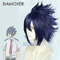 Biamoxer僕のヒーローアカデミア3天城環コスプレウィッグ僕のヒーローアカデミア3rdシーズンショートストレートアニメ人工毛ネイビーブルー