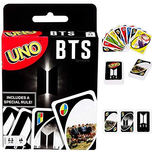 YIAI BTS UNO Kartenspiel Get Wild Phase 10 Skip BO DOS UNO Flip Fotokarten-Set Spielkartendecks Spiel, BTS UNO, Free Size