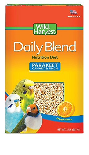 Wild Harvest Daily Blend For Parakeet, Canary, Finch & Small Birds 2Lb