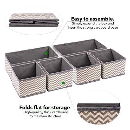 Organizador de cajones y tocadores de tela – Cajas de almacenamiento plegables para la guardería del bebé – Organiza tu maquillaje y artículos esenciales de baño – tu armario y dormitorio