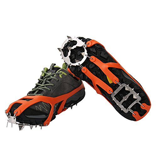 IC3CCOM Micro spikes Traction Cleats Footwear Traction Ice for Walking, Jogging, or Hiking on Snow...