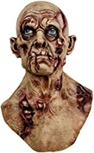 Halloween Costume Mask, Walking Creepy Dead Man Costume Full Head Scary Masks Realistic Latex Mask for Adults (A)